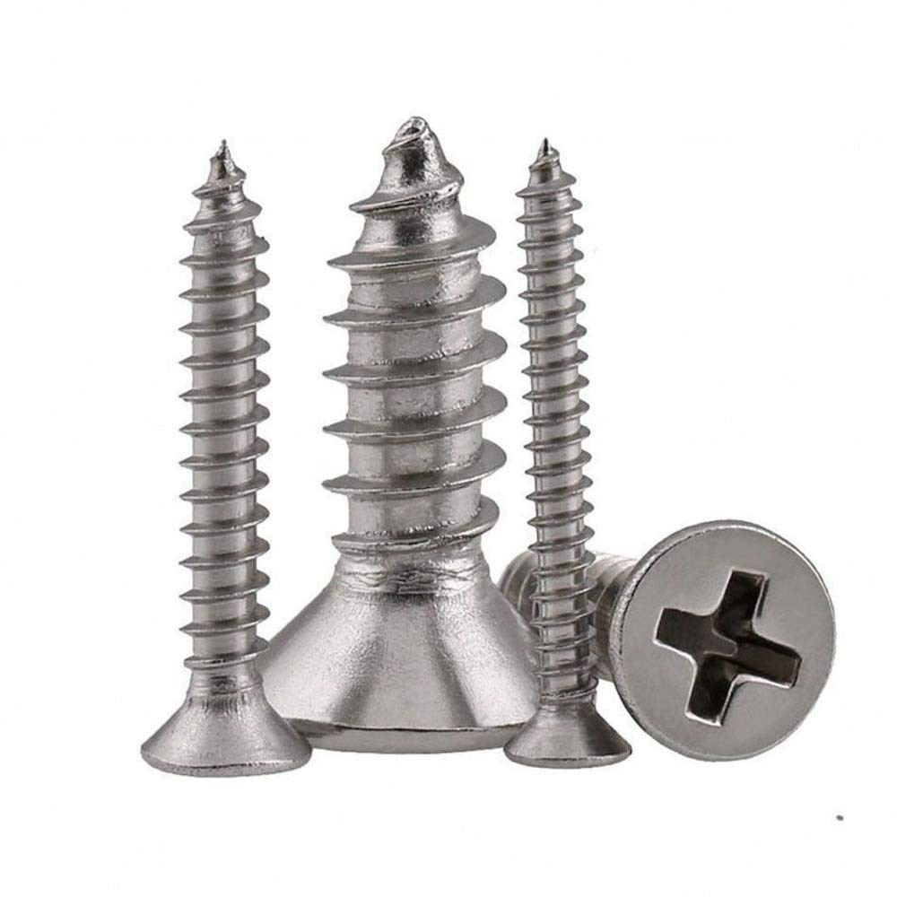 M5 M6 Countersunk Flat Head Phillips Self Tapping Screws A2 Stainless Steel M535 mm -4PCS