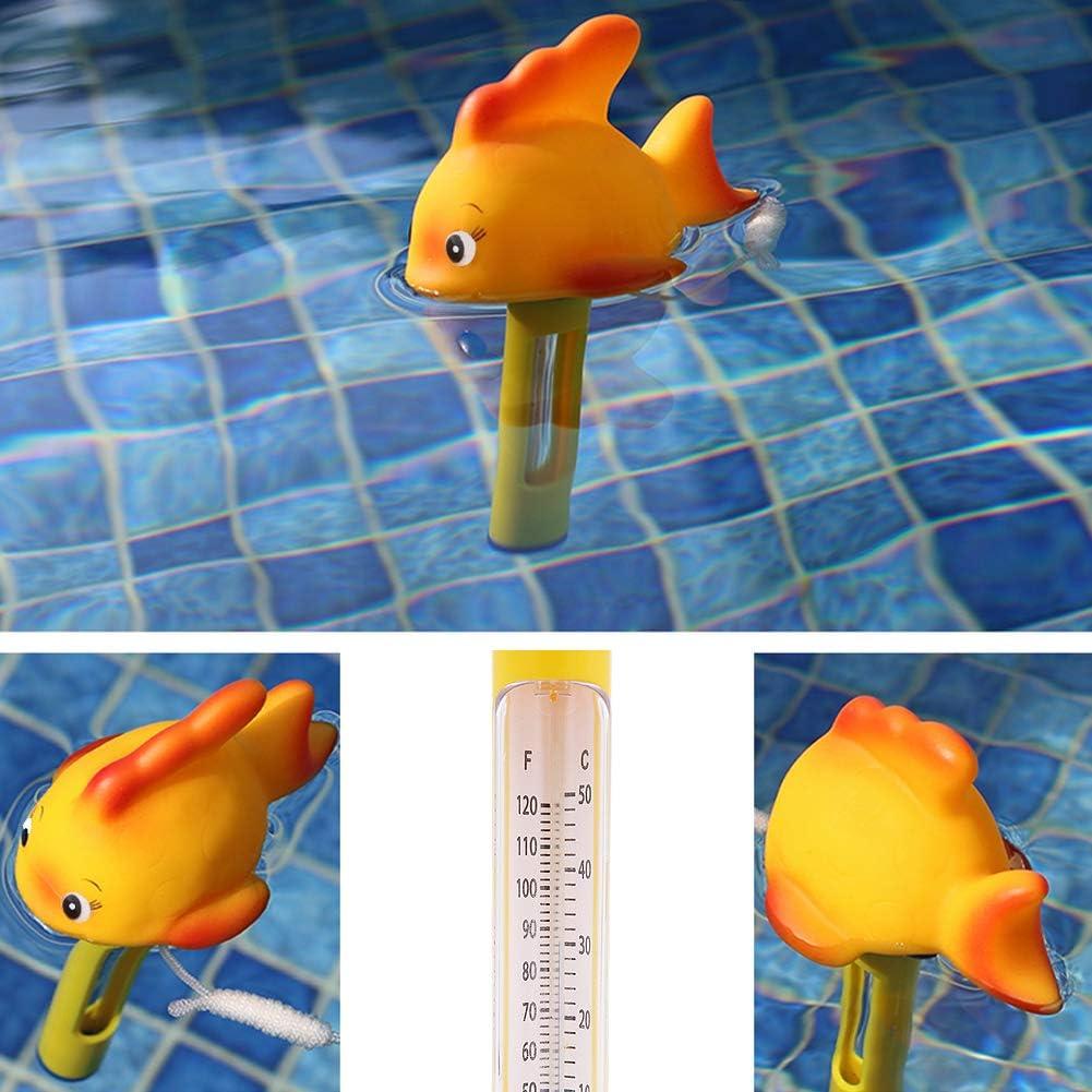 Bains et Aquariums Goldfish Dawa Dessin anim/é Style Flottant Thermom/ètre de Piscine Flottant Thermom/ètre pour Usage int/érieur et ext/érieur piscines Jacuzzi spas