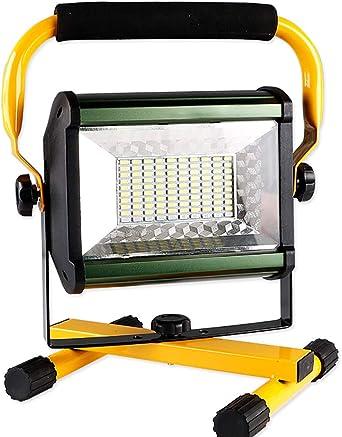 LED Proyector de construcción 100W, Lámpara giratoria de 360 ...