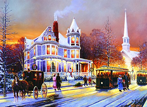 Winter in The City (Large Piece) 500 Piece Jigsaw Puzzle by SunsOut