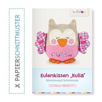 kullaloo - Schnittmuster & Nähanleitung für Kuscheltier/Kissen Eule ...