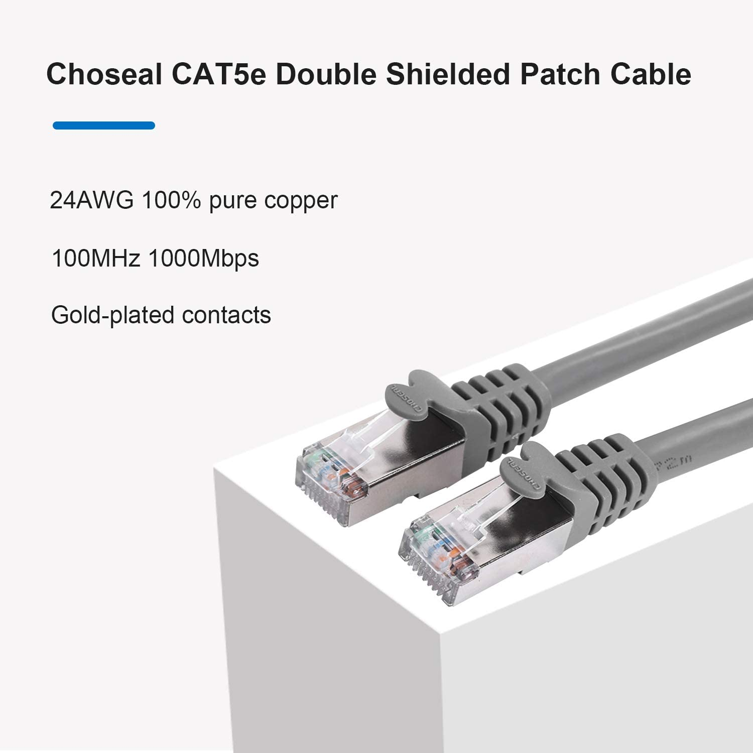 High Speed with RJ45 Gold Plated Cat7 Wire for Router 65 Foot ps4,Xbox Flat Internet Network Computer Patch Cord Choseal Cat 7 Ethernet Cable 65ft