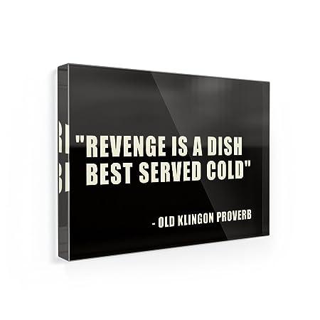 Imán para nevera la venganza es un plato sirve mejor frío, Kill ...