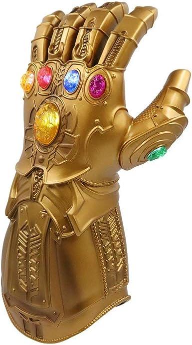 Thanos Infinity Gauntlet Light Glove Marvel Superhero Avengers Cosplay LED PVC