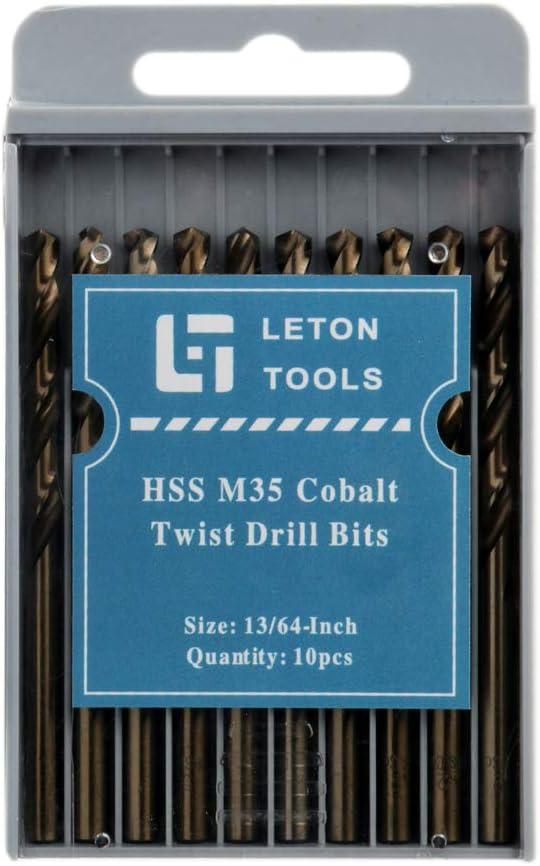 1//2,12.7mm LETON HSS M35 Cobalt Drill Bit Set Pack of 5