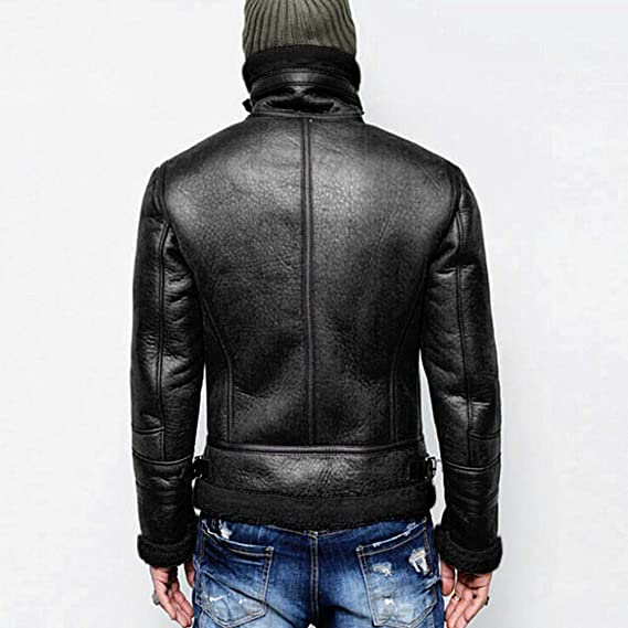 Amazon.com: Clearance Sale for Coat.AIMTOPPY Fashion Mens Plus Velvet Large Size Zipper Large Collar Leather Jacket: Computers & Accessories