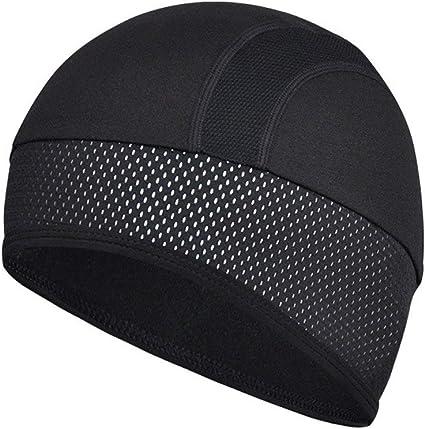 2pcs Windproof Cycling Skull Hat Cap Sweat Absorbing Helmet Liner Sweatband