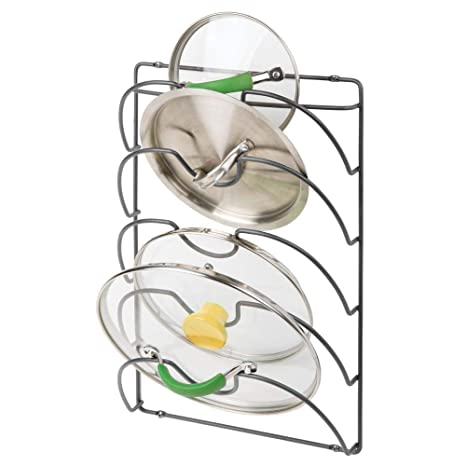 mDesign Soportes de pared para utensilios y menaje de cocina con 5 apartados – Práctico organizador