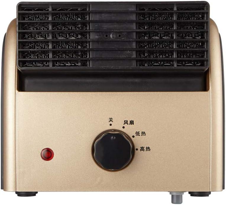 LYzpf Rápido Calentador de Ventilador Mini Ruido Bajo Pequeña Cerámica Aire Personal Portátil Calefactor Eléctrico Bajo Consumo de Energía para Habitación Oficina Baño