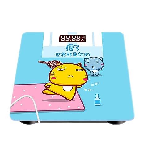 JTHKX Carga Escala electrónica Escala de Peso Hogar Precisión Báscula de baño Dibujos Animados Escala electrónica