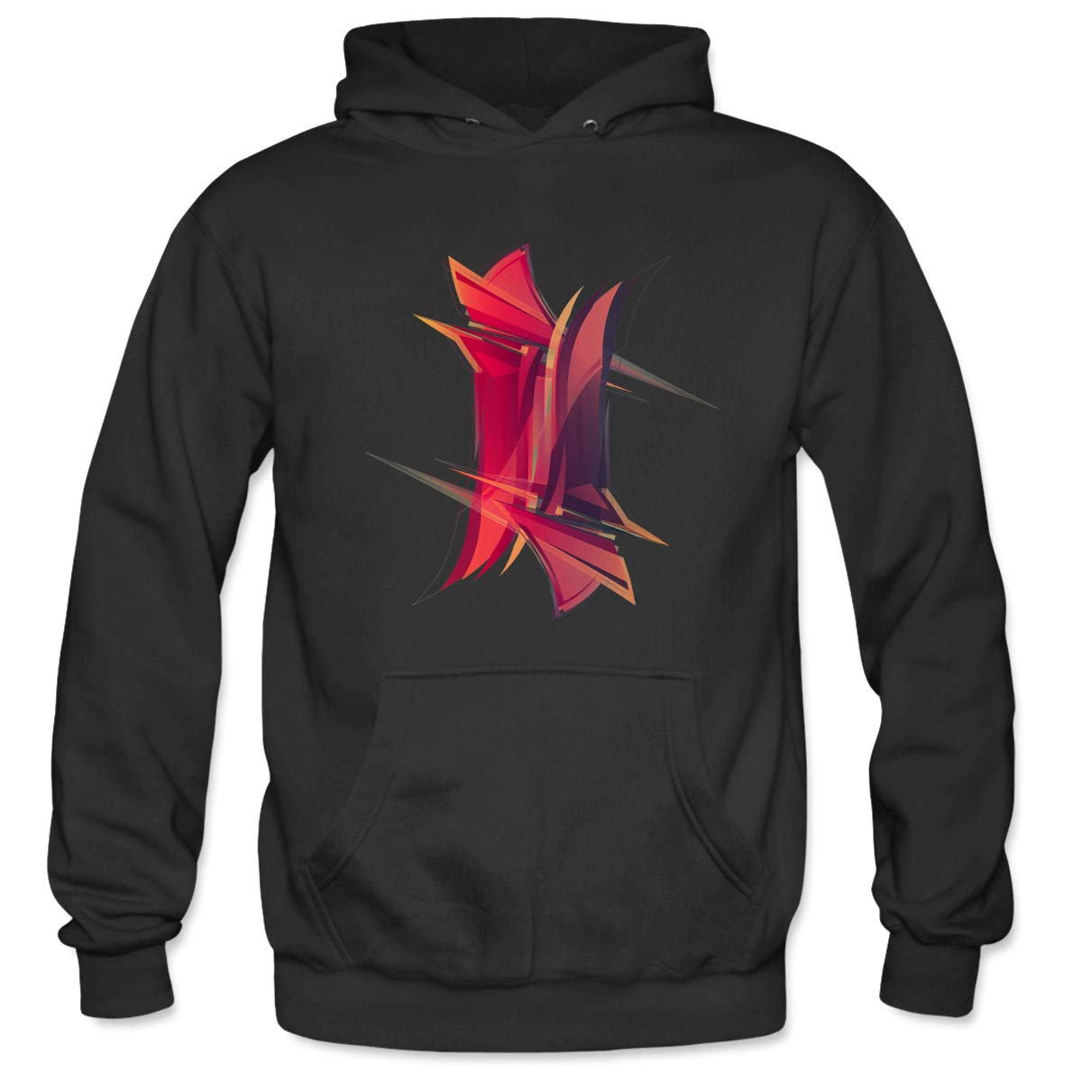 Mens Abstractshape3 Hooded Sweatshirt Funny Printed Pullover Hoodies Classic Long Sleeve T Shirt Tops