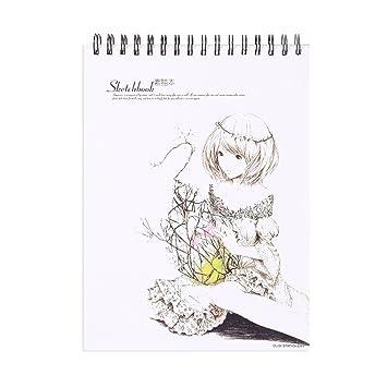 Arte Dibujo a lápiz de dibujo, A4, tapa dura, espiral doble ...