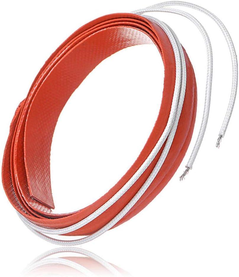 LYYCEU 12x500mm 50w 12V inyectable Flexible inyectora línea Calentador de Silicona Tira de Calentamiento Utilidad