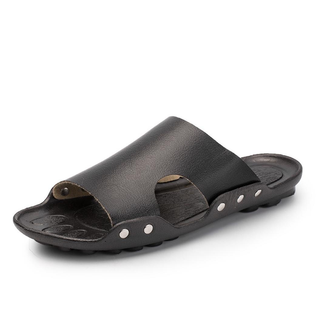 ホットセール。 メンズフリップフロップ、neartimeカジュアルビーチ通気性スリッパソリッドカラーサンダルホームフラット足首低靴 6.5 ブラック NE B07BDG51TQ 6.5|ブラック ブラック 6.5
