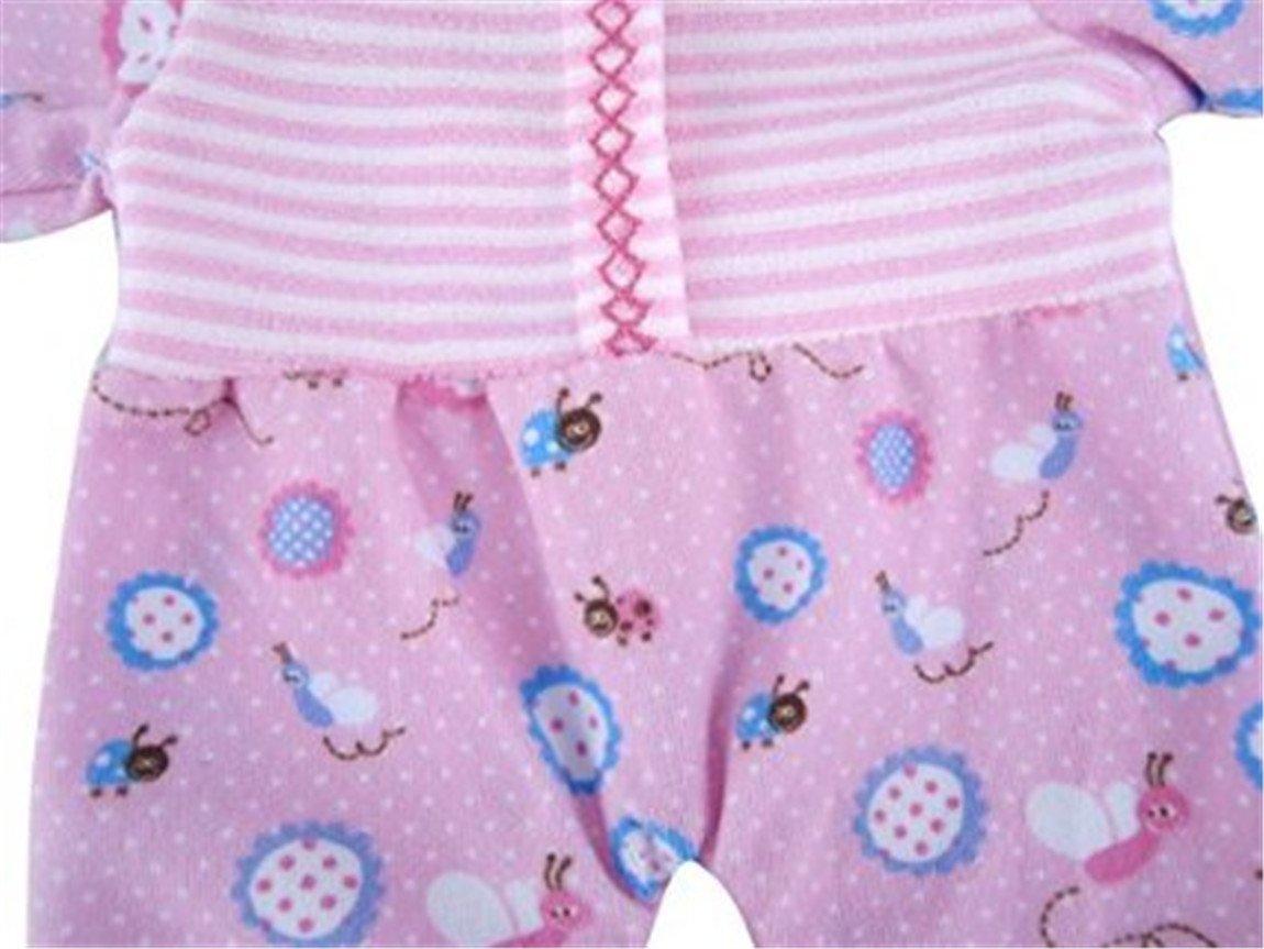 685baa570fe5 Amazon.com  JELEUON Cute Pink Baby Honeybee Printed Rompers Clothes ...