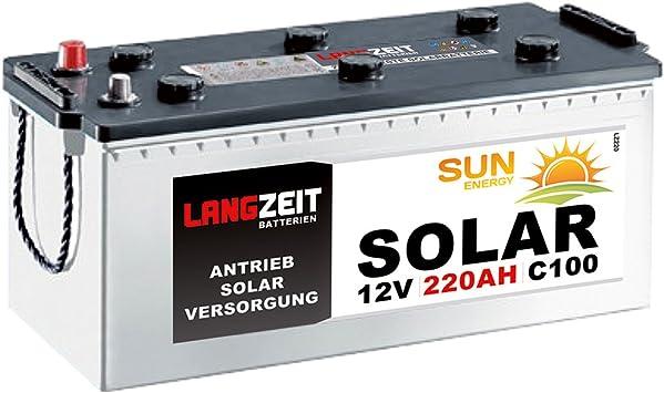 Solarbatterie 12V 260Ah EXAKT DCS Wohnmobil Versorgung Boot Batterie 220Ah 230Ah
