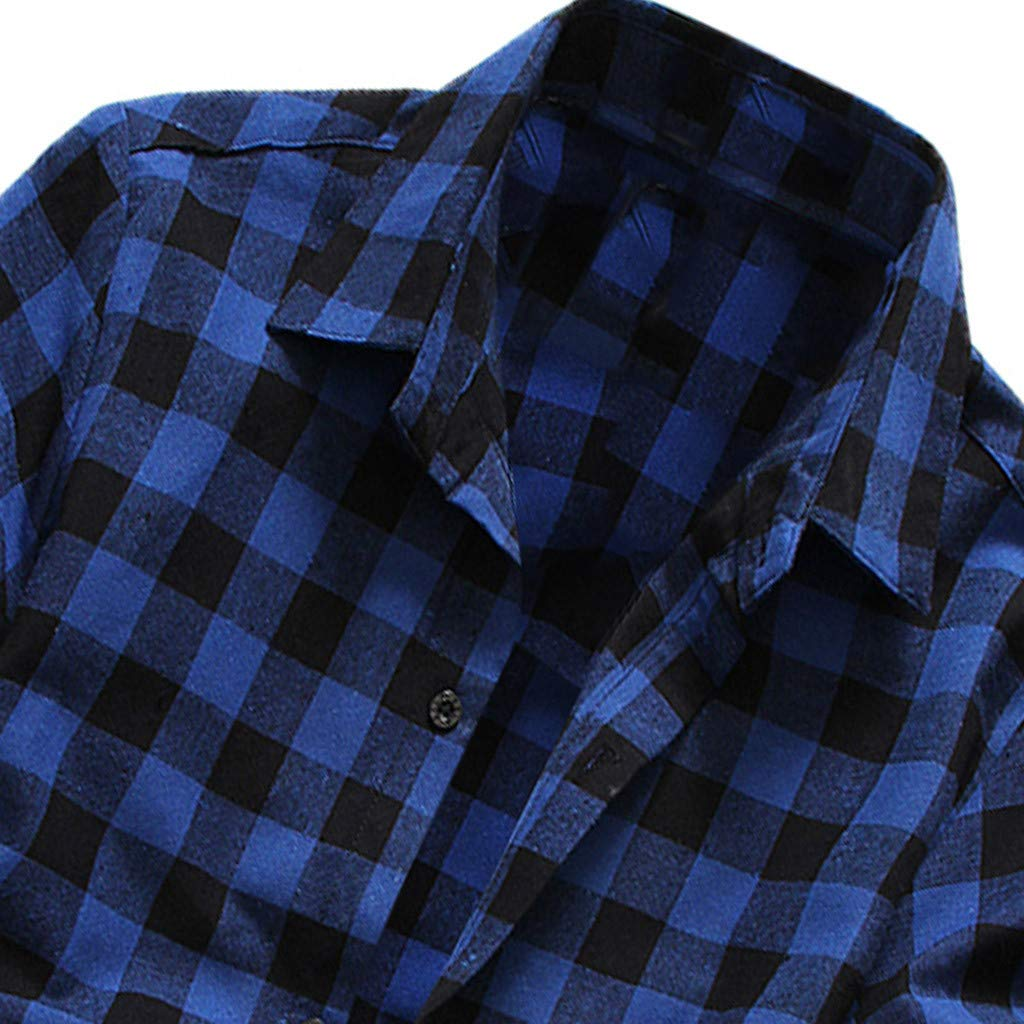 Allywit Men/'s Short Sleeve Lattice Plaid Painting Large Size Casual Top Blouse Shirts Big and Tall
