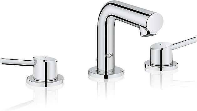 Grohe 20572001 Concetto Widespread Bathroom Faucet Starlight Chrome Amazon Com