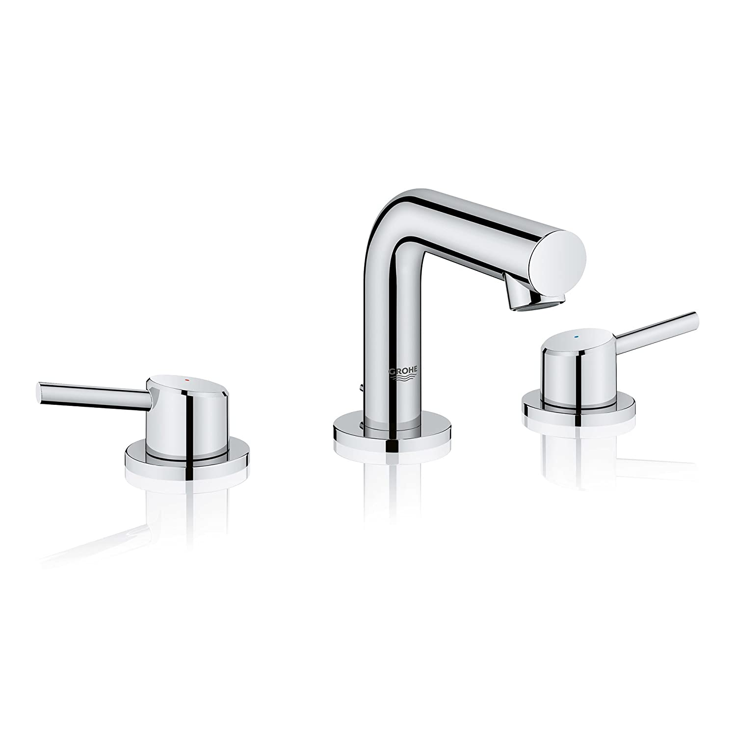 GROHE 20572001 Concetto 8 In. Widespread 2-Handle Mid-Arc Bathroom Faucet In Starlight Chrome