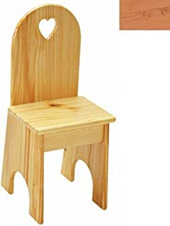 product image for Little Colorado Solid Back Heart Kids Chair in Natural