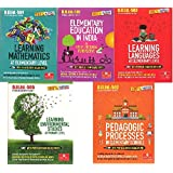 DIPLOMA IN ELEMENTARY EDUCATION (D.EL.ED)For 2 YEAR DIPLOMA LEARINING ENVIRONMENTAL STUDIES,PEDAGOGIC PROCESSED,ELEMENTARY EDUCATION IN INDIA,LEARNING MATHEMATICS,LEARNING LANGUAGES (5 BOOK SET) FOR D.L.ED
