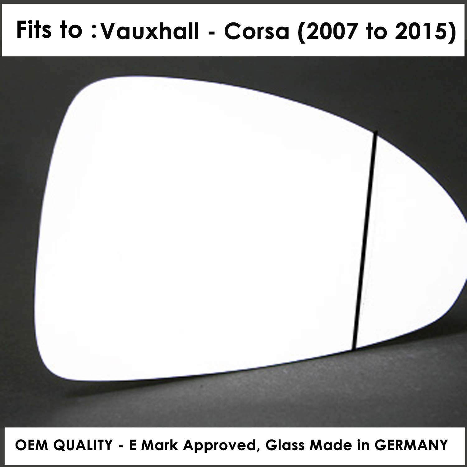 Wing Mirror Glass Rh Driver Side The Wing Mirror Company GL623-VA Silver Aspheric Door