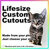 Amazon com: Personalised Cardboard Cutout - Your Photo Made into a
