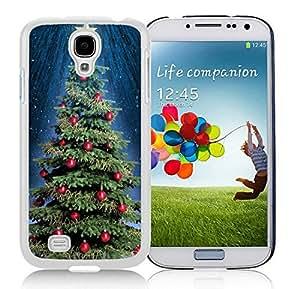Custom Design Samsung S4 TPU Protective Skin Cover Christmas Tree White Samsung Galaxy S4 i9500 Case 9