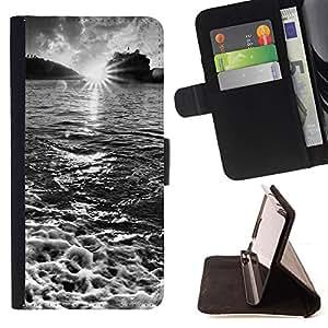 - Waterfall Topaz Green - - Monedero PU titular de la tarjeta de cr????dito de cuero cubierta de la caja de la bolsa FOR HTC One M8 RetroCandy