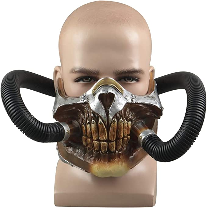 Wasteland Warrior Mask Mad Max Accessories Festival Costumes Black Tire Mask Motorcycle Mask Cosplay Mask Burning Man Costumes