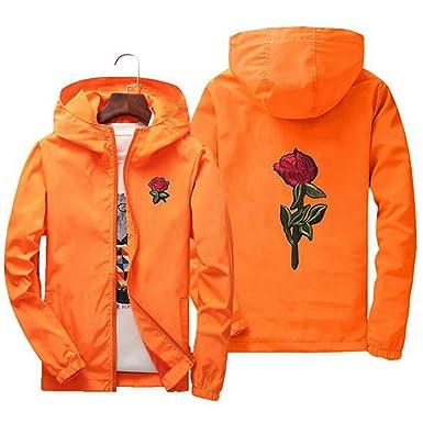 20f0c811a0eef Fashion Hoodies Embroidery Rose Flower Windbreaker Jacket Men Puls Size S  7XL Hooded Bomber Jacket Skin