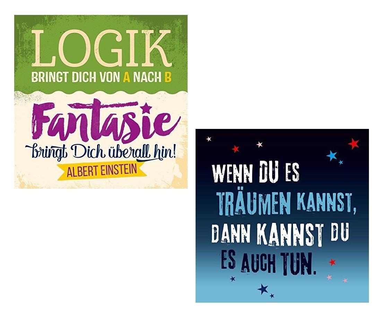 Amazon.de: Kühlschrankmagnete Magnet Sprüche Träumen Und Fantasie   2er Pack