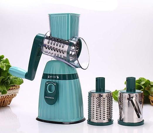 QCDGNL Cocina Chopping artefacto Mano Roller Cutter Lazy artefacto, Azul: Amazon.es
