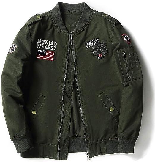 メンズジャケット、暖かい貨物スタンドカラーミリタリーシックコットンジャケットコート