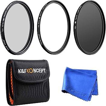 K&F Concept® 77mm Filtro Kit Profesional Lente Filtro Accesorio ...