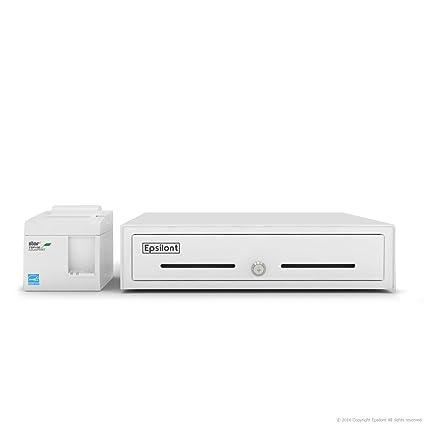 SQUARE and SHOPIFY POS HARDWARE BUNDLE - Star Micronics TSP143IIILAN  39464910 ETHERNET (LAN) Printer and Epsilont Cash Drawer (LAN/Network,  White)
