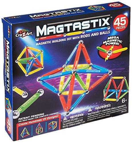 Cra-Z-Art Magtastix Balls & Rods Building Kit (45 Piece) (Package may vary) (Magna Sticks)