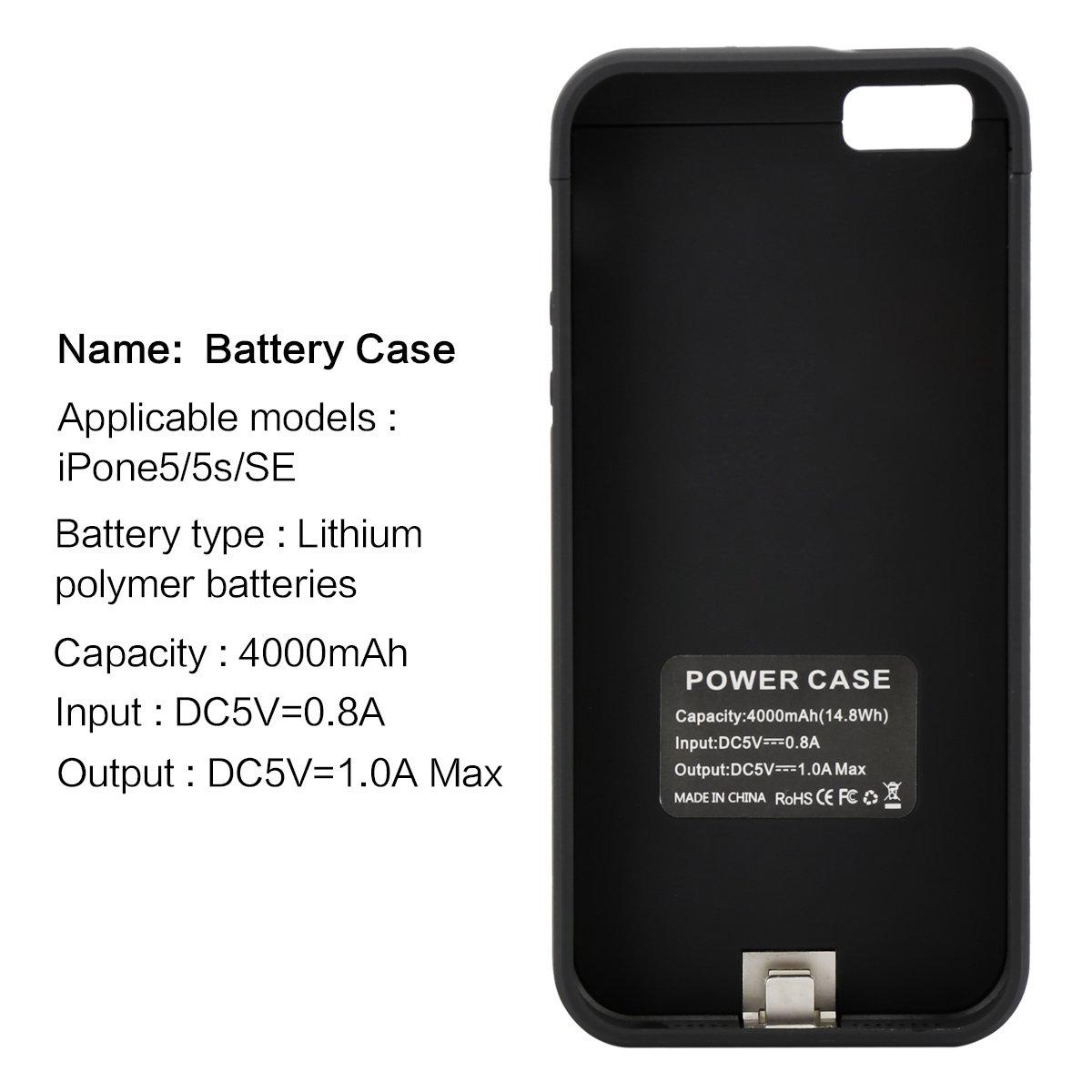54eda6dba4d Baterías Accesorios Funda Batería iPhone 5 5S 5C SE LifeePro 4200mAh  Batería Recargable Externa Ultra Delgada Protector portátil ...