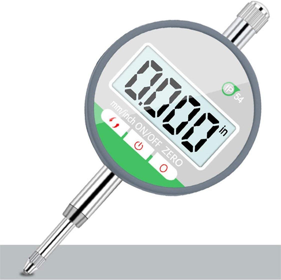 Silber-Schwarz 0,5Pr/äzisions-Messuhr-Messger/ät IP54 /Ölfestes digitales Mikrometer 0,001 mm Elektronisches Mikrometer Metrisch//Zoll 0-12,7 mm