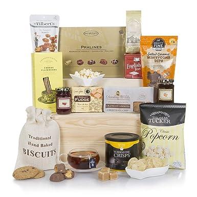 Cesta de comida navideña gourmet - Cestas de Navidad de lujo y canastos de regalo de comida - Ideas de regalo como cumpleaños y regalos de ...
