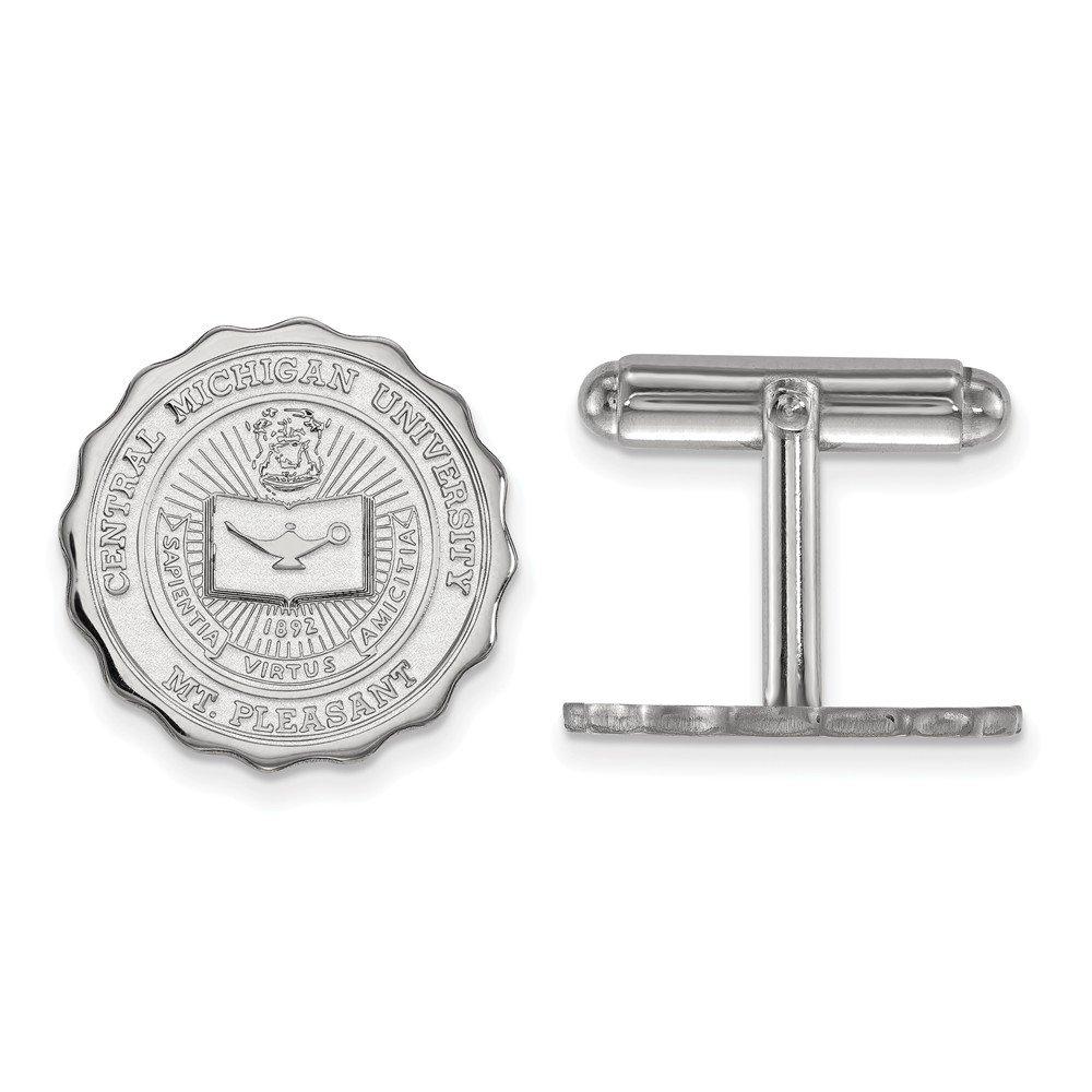 Central Michigan Crest Cuff Links (Sterling Sliver)