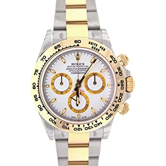 a820d2ad880 Image Unavailable. Image not available for. Color: Rolex Cosmograph Daytona  40 White Dial Stainless Steel And Gold Men's Watch 116503