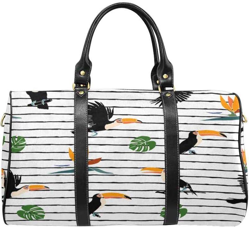 InterestPrint Large Duffel Bag Flight Bag Gym Bag Summer Print