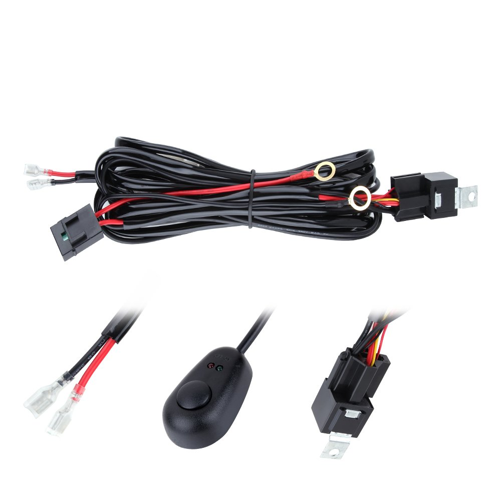 High Low Wiring Kits Headlight Parts Accessories Harness Annt Waterproof 3m 10ft 12v 40a Off Road Led Offroad Light Bar