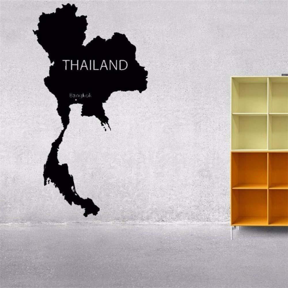 LovelyHomeWJ Mapa del Mundo Tailandia Planeta Silueta de Pared de ...