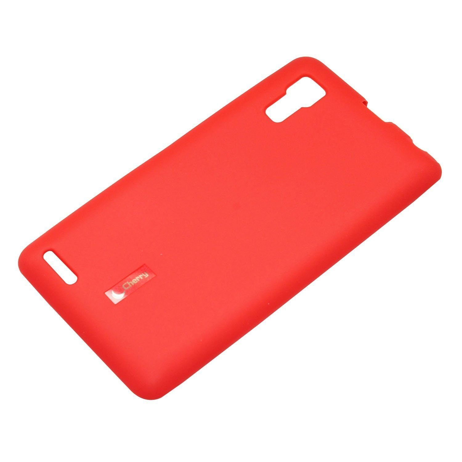 100% authentic 67ca9 698cf Caseous® Soft Matte Finish Rubberized Back Cover Case for Lenovo P780 (Red)