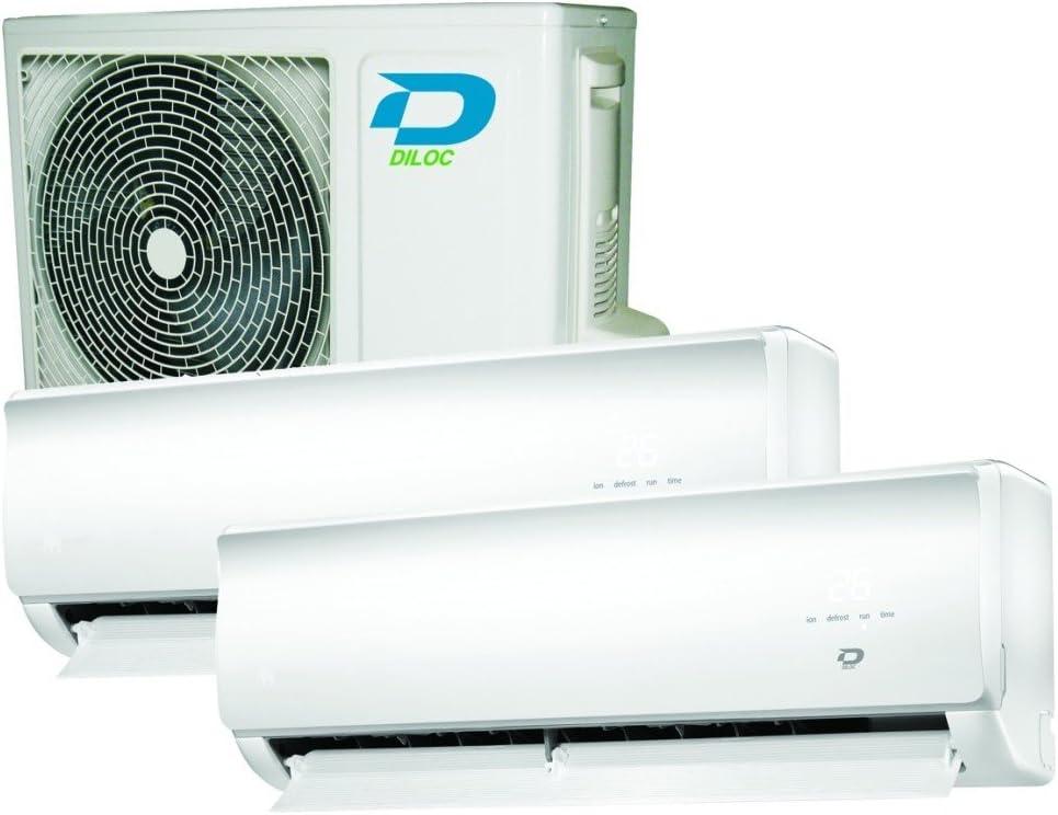 Duo Multi Split 9000 + 12000 25 + 30 m² Aire Acondicionado DILOC ...