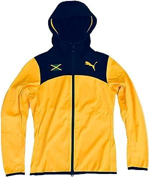 Capataz ensalada paquete  Puma Jamaica Women 's Warm Up – Chaqueta con capucha (513931), Spectre  Yellow / Black / JAMAICA, extra-small: Amazon.es: Deportes y aire libre