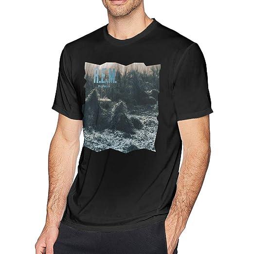 ff0ba24e5 Men T Shirt R.E.M. Murmur Casual Top Cotton Short Sleeve Tee Black