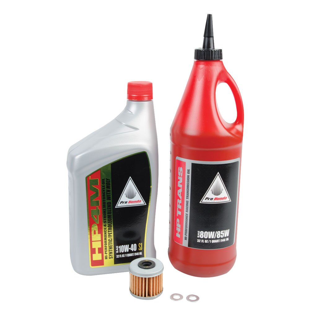 Tusk 4-Stroke Oil Change Kit Pro-Honda HP4M Synthetic Blend 10W-40 - Fits: Honda TRX 450ER 2006-2009